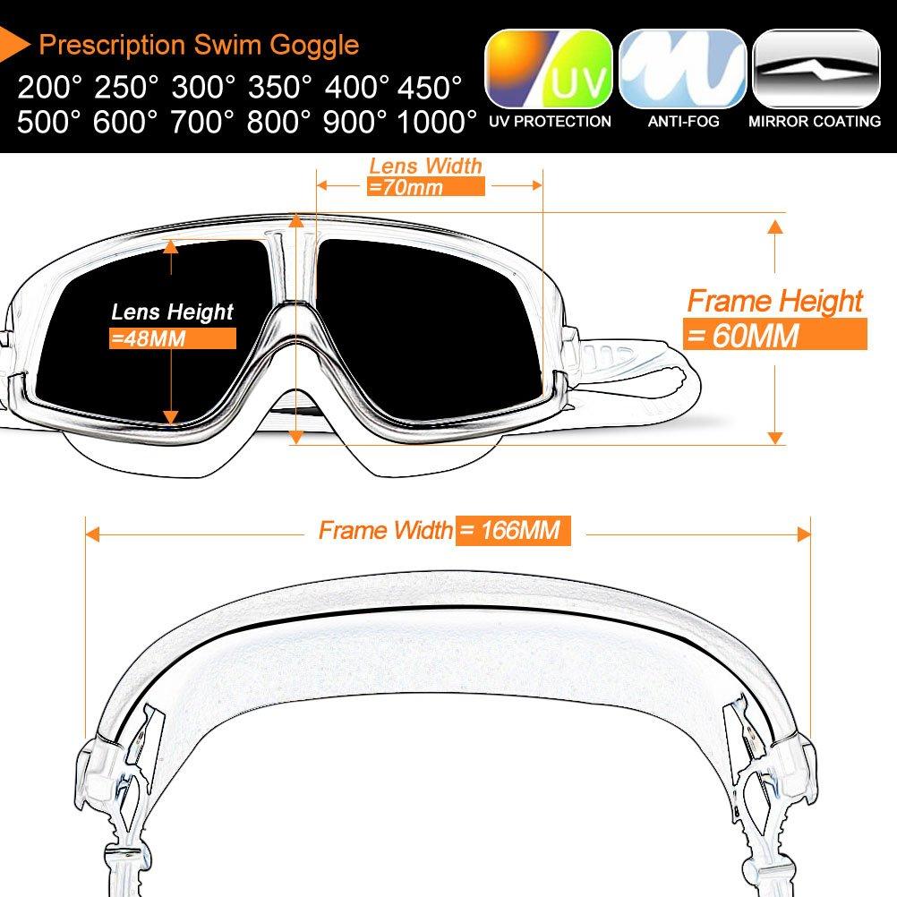 66b1791e21 Amazon.com   Zionor RX Prescription Swim Goggles