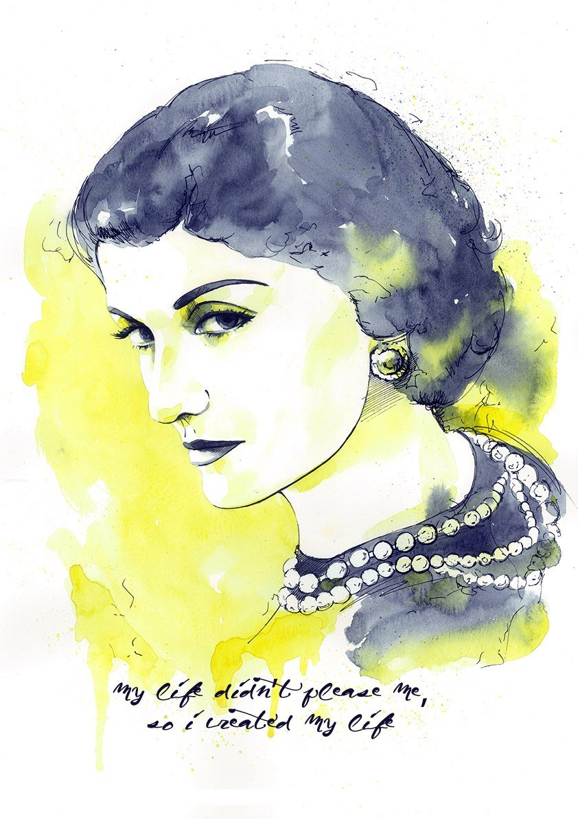 Amazon.com: 11x14 Coco Chanel poster #A099. Coco Chanel quote ...