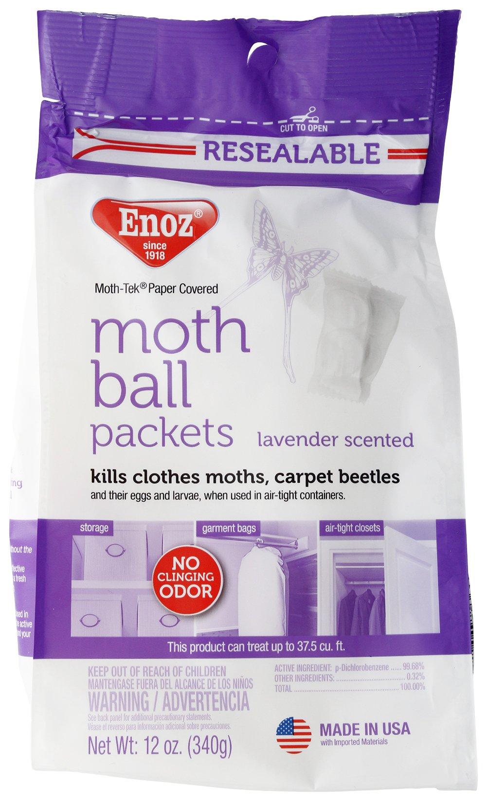 Enoz Moth Tek Packets 12 Oz Lavender (-) (6)