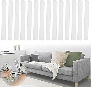 Anti Slip Foam Strips Slipcovers for Sofas, 14Pcs Foam Strips Couch Covers, Foam Grips for Couch Slipcovers, Foam Sticks for Stretch Sofa Slipcovers, Foam Sofa Strips for Recliner, Furniture Protector