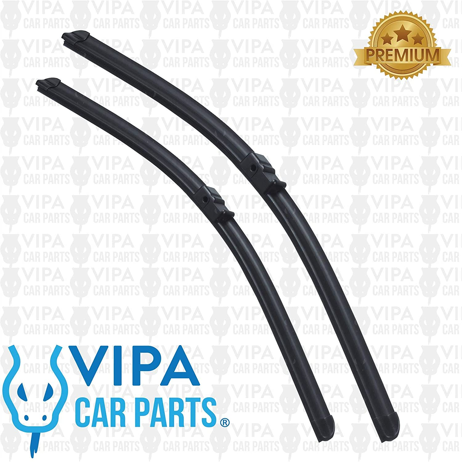 207 Hatchback Feb 2006 Onwards Windscreen Wiper Blade Kit 2 x Blades