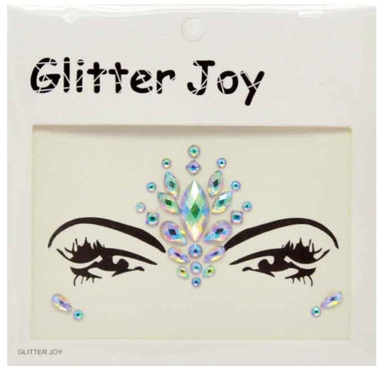 Glitter Joy Piedras adhesivas de estilo diamante brillante con efecto de tatuaje temporal
