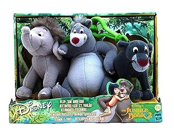 Disney Le Livre De La Jungle Peluche 3 Personnages Amazon