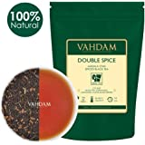 Double Spice Masala Chai Tea (100 Cups)​, STRONG & SPICY, 100% N​atural Ingredients, ​​Black Tea, Cardamom, Cinnamon, Cloves, Black Pepper, Brews Chai Latte, Blended & Packed at Source in India, 7oz