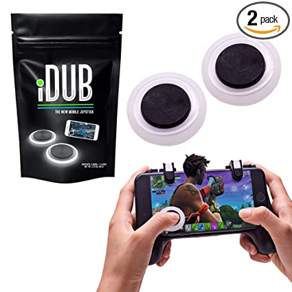 iDub Mobile Gaming Joystick Pack of 2 | Elite Black Video Game Controller  for Shooting, Battle Royale, Fighting and Survival Games | Cell Phone