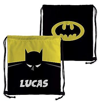 Lolapix Mochila Saco Personalizada Batman con Nombre. Superheroes. Friki. Varios diseños.: Amazon.es: Hogar