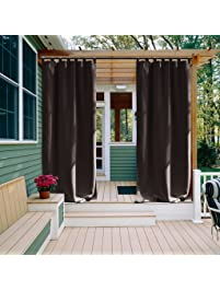 Patio Curtain Outdoor Drape Panel   NICETOWN All Season Home Decoration  Thermal Insulated Tab Top Blackout