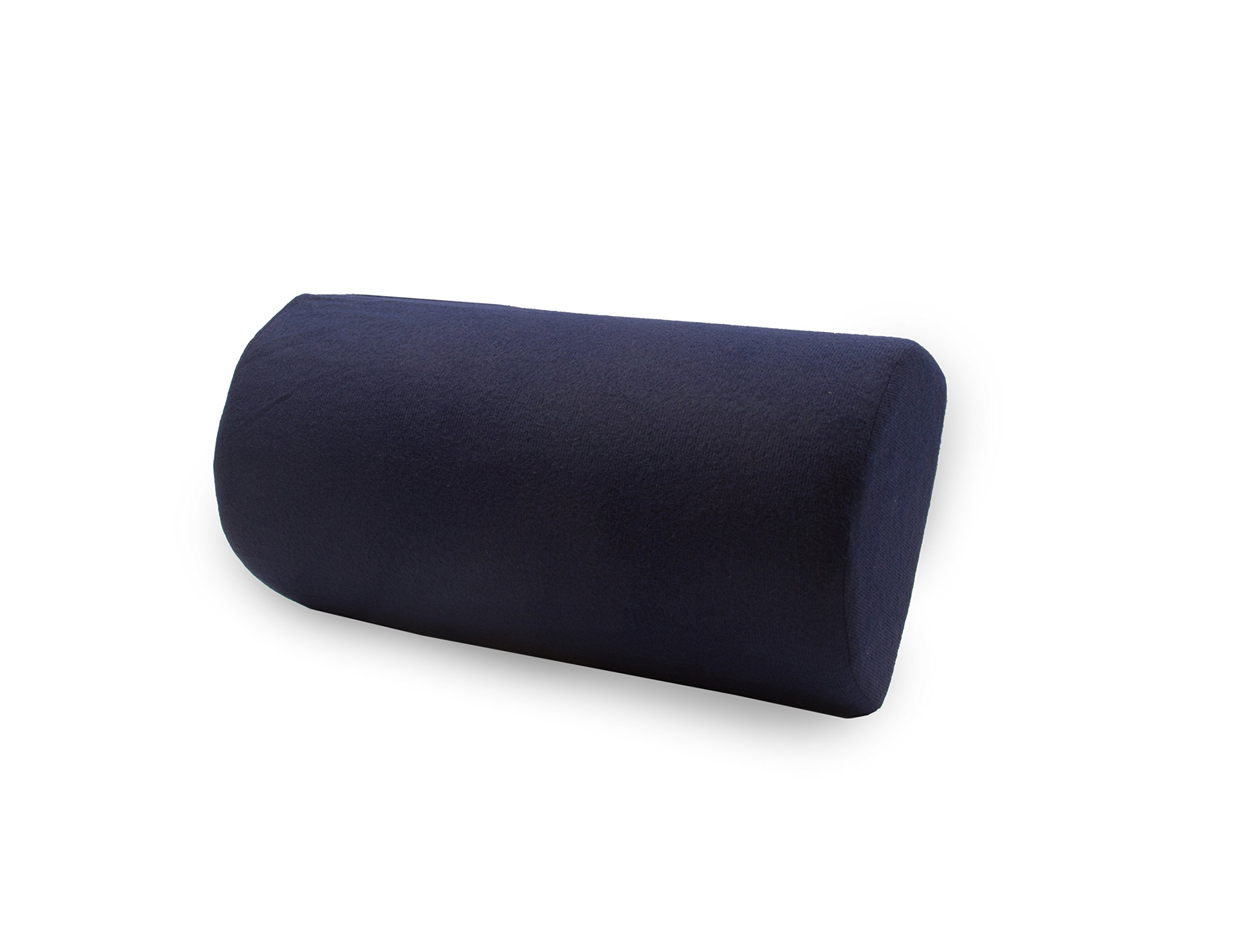 Half Moon Lumbar Roll with Attachment Strap - Extra-Firm Half Roll Lower Back Support Cushion