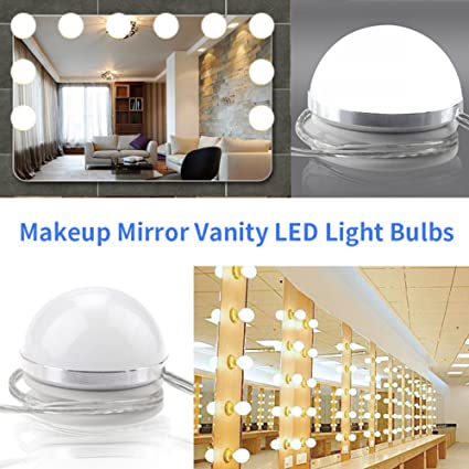 Linfon Hollywood Style Led Vanity Mirror Makeup Lights Kit With 10