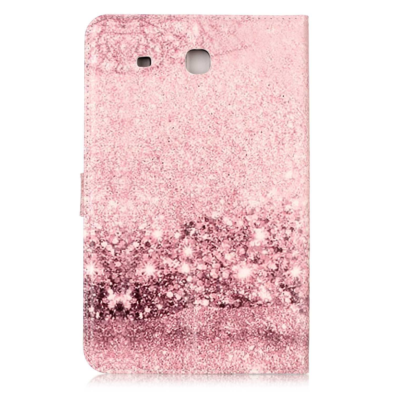 SainCat Custodia Flip Portafoglio Custodia Libro Pelle Flip Case Antiurto Cover per Samsung Galaxy Tab E 9.6 SM-T560//SM-T561-Rose Gold Cover Galaxy Tab E 9.6 Flip Case Leather