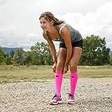 Zensah Tech+ Compression Socks, Neon Pink, Large