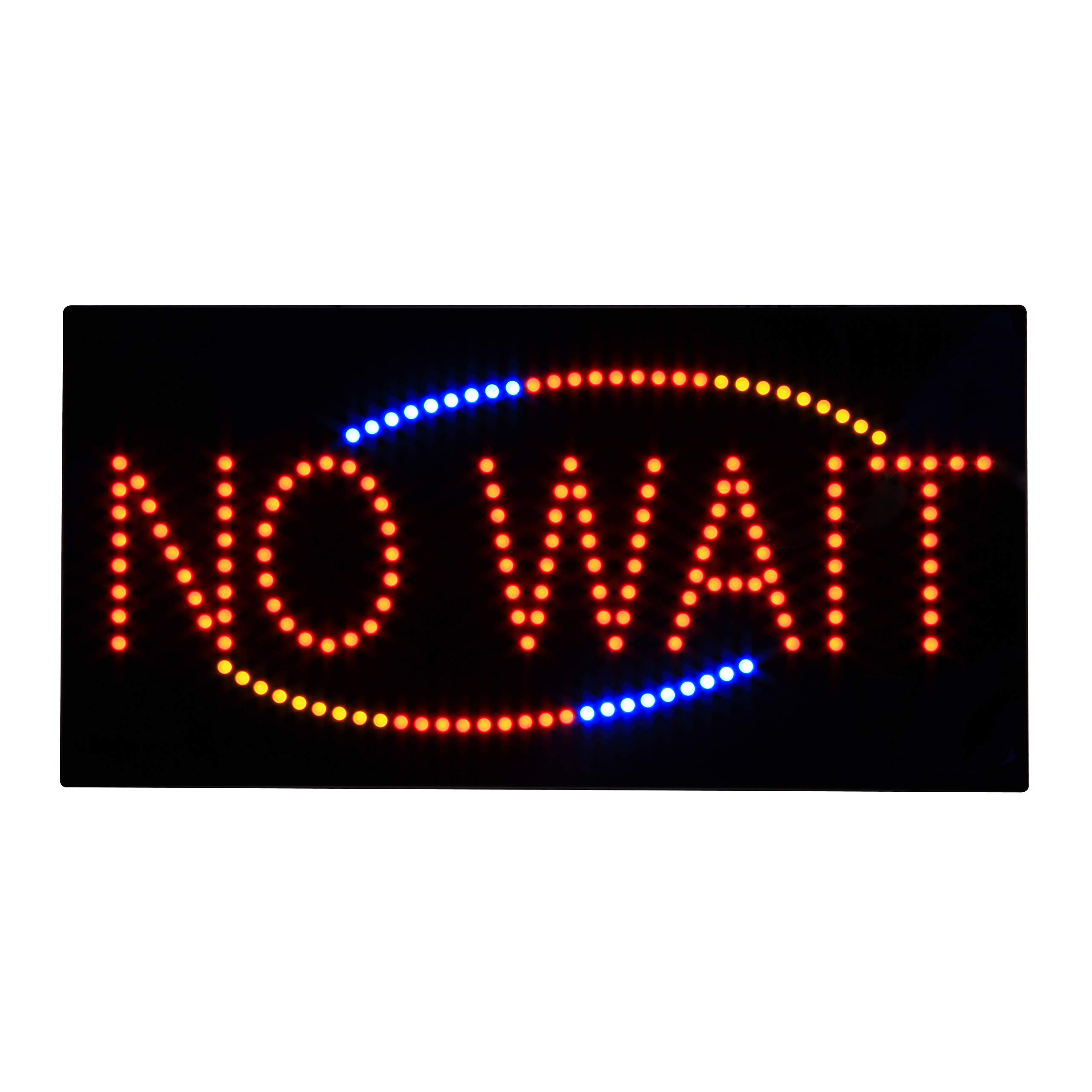 LED No Wait Sign 24 x 12 inches