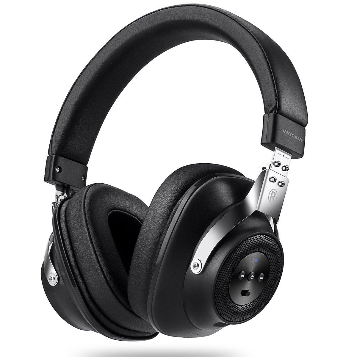 Auriculares Cancelacion De Ruido Activa Con Inline Microfono Y Carrying Case Para Viaje Over-ear Con Cable/inalambrico