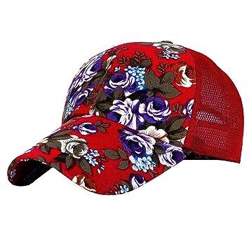 LUCKY Will Ajustable Flores Gorra Gorro Gorra Trucker Cap Sombrero Sombrero de Verano para Mujer Rojo: Amazon.es: Electrónica