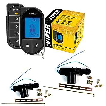 Sistema de seguridad del coche con mando a distancia Start 2 Vías Viper 5706 V con 2 puerta cerraduras: Amazon.es: Coche y moto