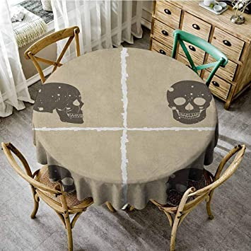 Admirable Amazon Com Round Tablecloth Net 60 Inch Round Grunge Skull Ibusinesslaw Wood Chair Design Ideas Ibusinesslaworg