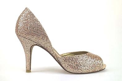 Chaussures Femme Haute Couture Escarpins Noir Textile Am867 ydLPzm