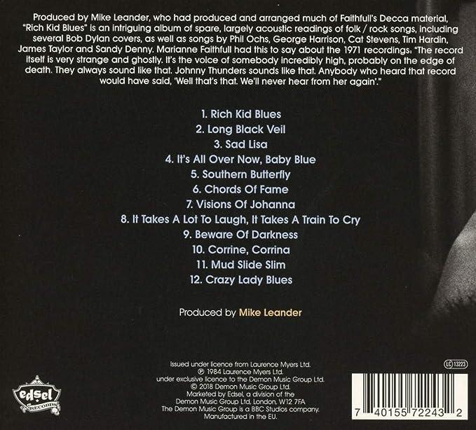 Rich Kid Blues: Marianne Faithfull: Amazon.it: Musica
