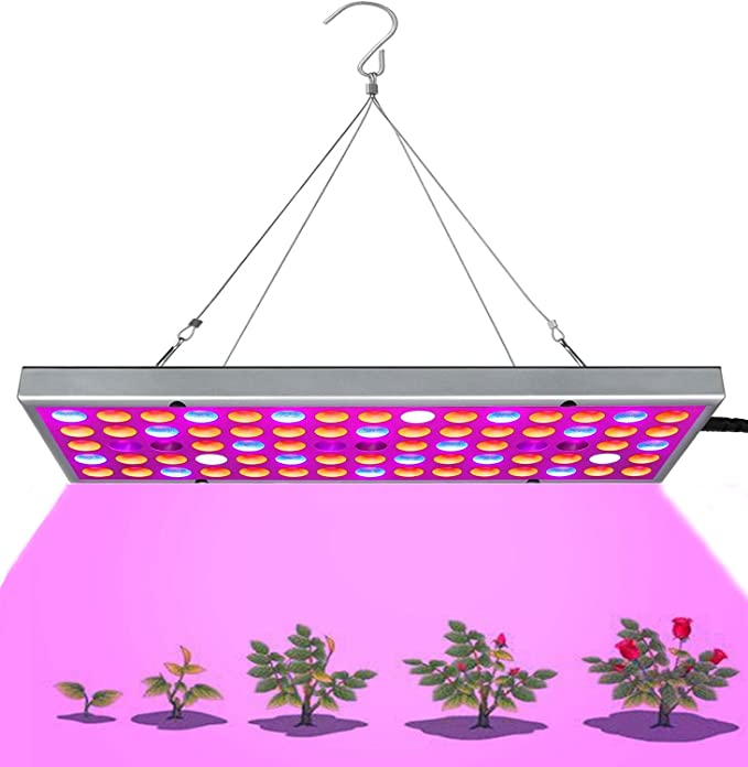 Livole Grow Light Hanging LED Plant Light with 75 LEDs and Small Panel for Indoor Plants Seed Germination Growing FloweringampFruiting