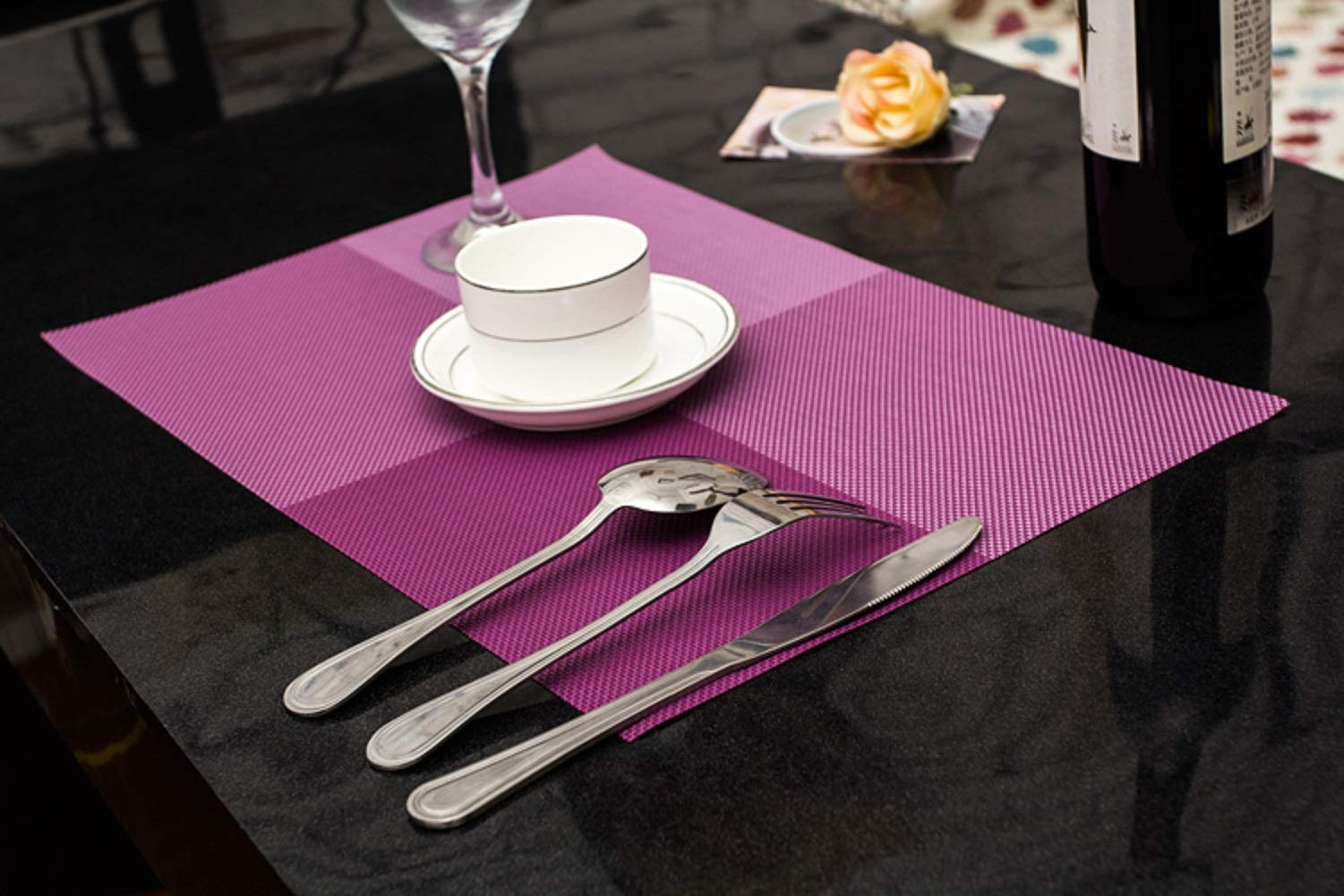 Xugoly Tablemats0702 Table Mats Placemats, Medium, Purple by Xugoly