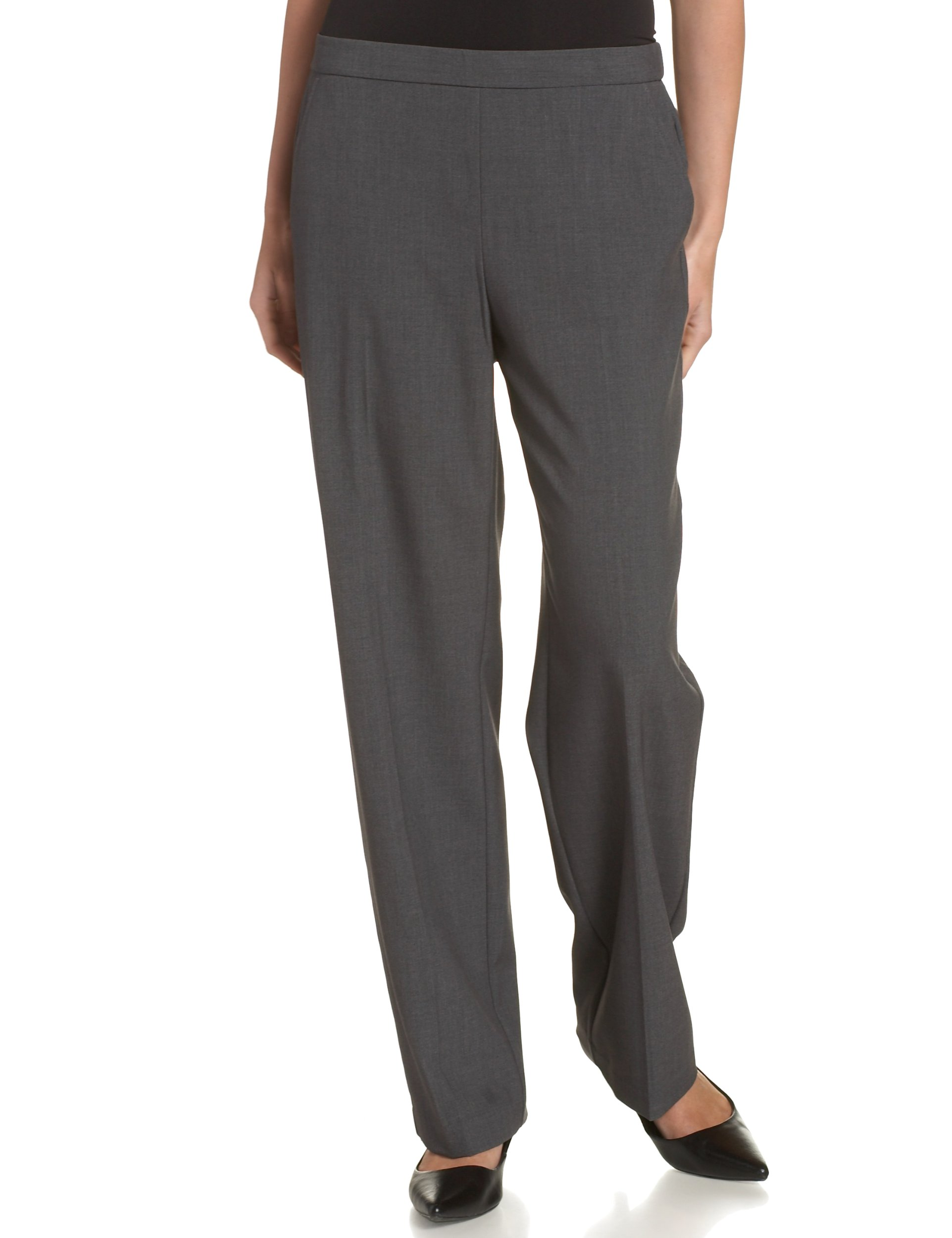 Briggs New York Women's Petite All Around Comfort Pant, Heather Grey, 16P by Briggs
