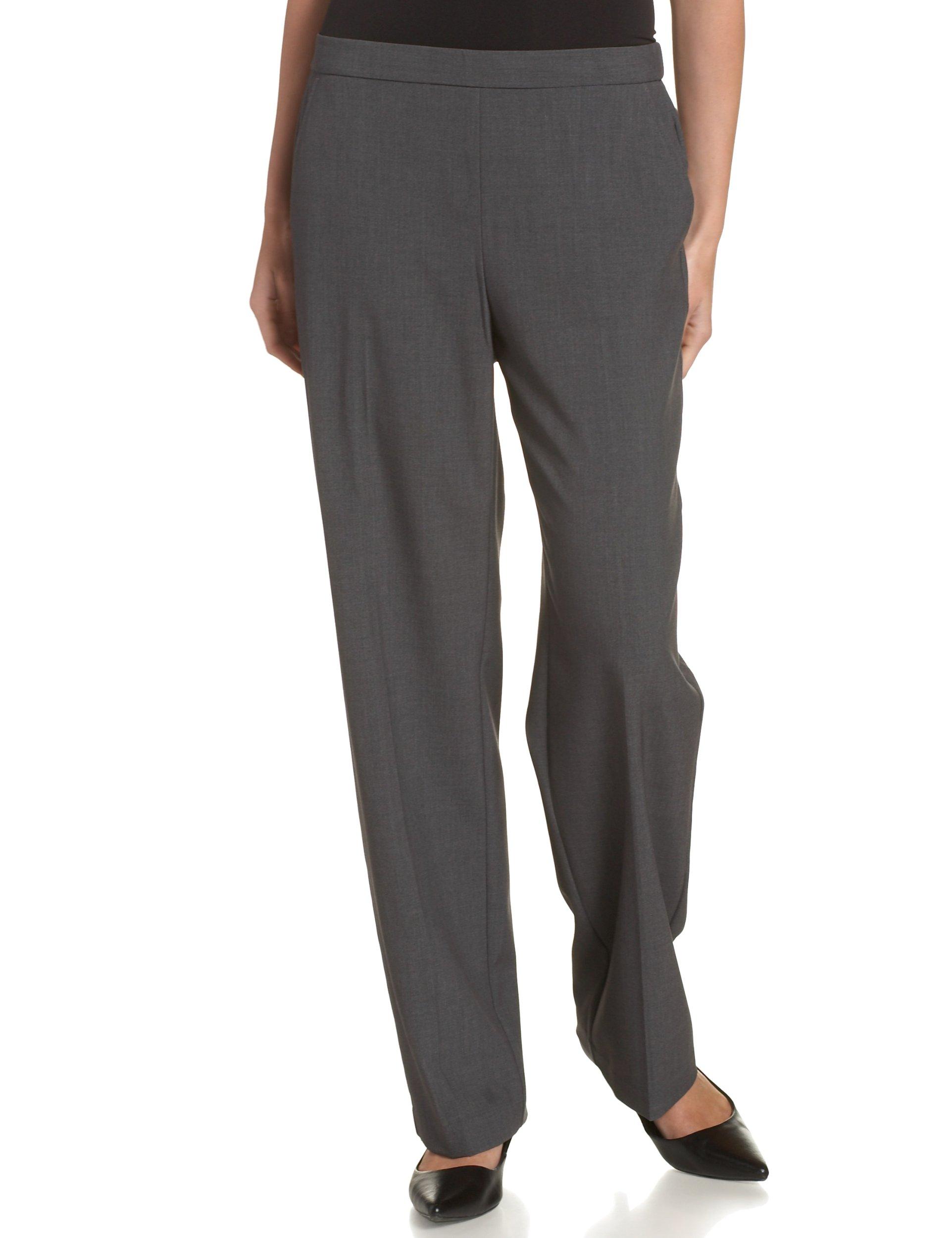 Briggs New York Women's All Around Comfort Pant,Heather Grey,12P