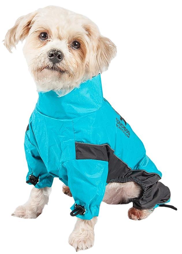 Amazon.com : TOUCHDOG Quantum-Ice Full Body Bodied Adjustable and 3M Reflective Pet Dog Coat Jacket w/ Blackshark Technology, Large, Ocean Blue, ...