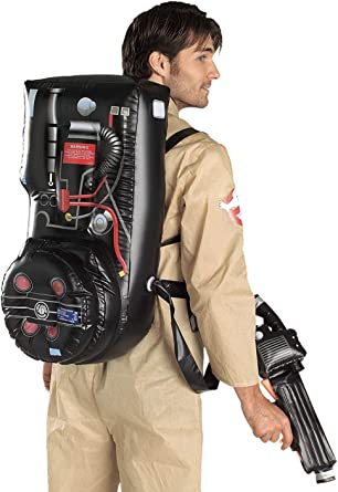 Adults Official 80s Ghostbusters Inflatable Proton Pack Costume Halloween Outfit