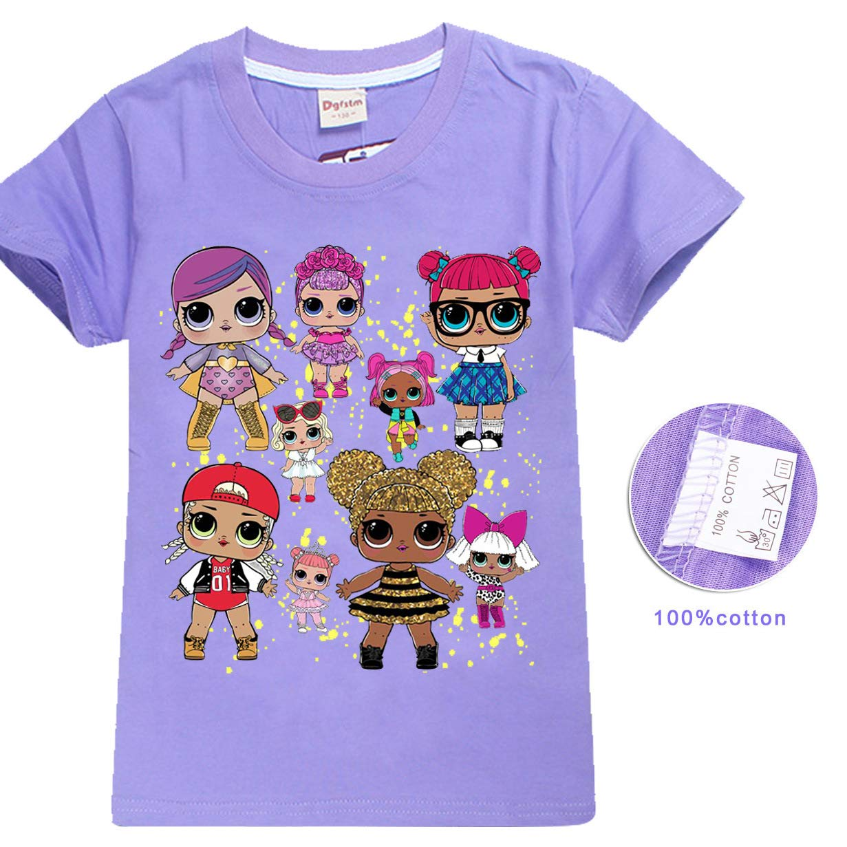 LOL Surprise Doll T-Shirt Girls Tops Tees 100/% Cotton