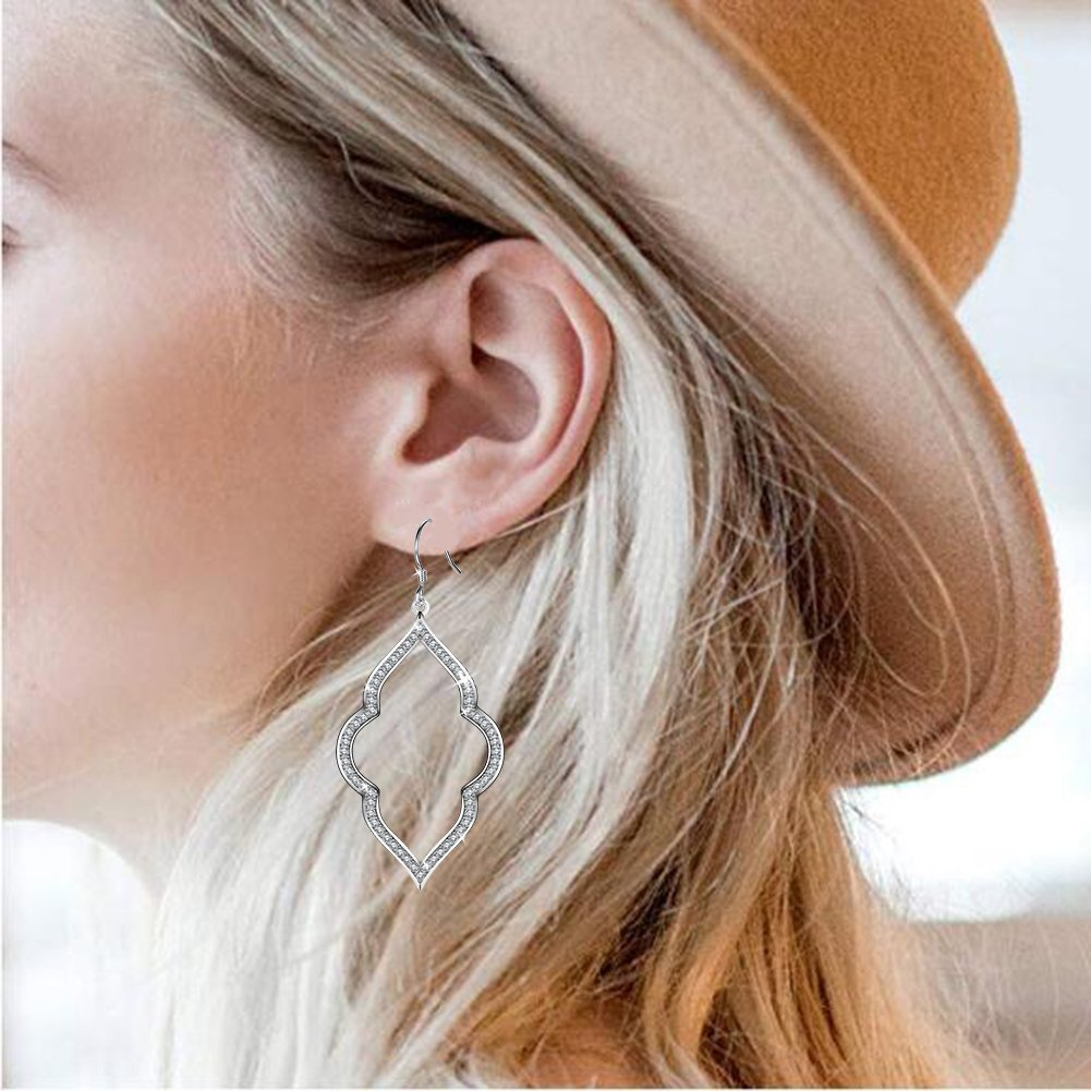 Hoop Earrings for Women sensitive Ears Silver and Stainless Steel Hoop Earrings Graduation Birthday Wedding Anniversary Jewelry Gifts for Women Her Girls Teen Teacher Mom Grandma Bridesmaid Daughter by My Lady (Image #4)