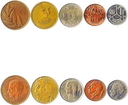 5 Monedas Diferentes - Moneda extranjera Vieja y Coleccionable de Bélgica para coleccionar Libros - Conjuntos únicos de Dinero Mundial - Regalos para coleccionistas: Amazon.es: Juguetes y juegos