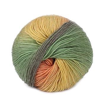 best-topshop 50 G bola de hilo, Rainbow caliente Crochet Craft material de tejer