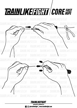 TRAINLIKEFIGHT Core Fast Rope - Black Edition - Comba de ...