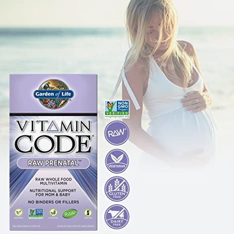 Garden of Life Vitamin Code Raw Prenatal Vegetarian Multivitamin Supplement  with Folate, Iron,