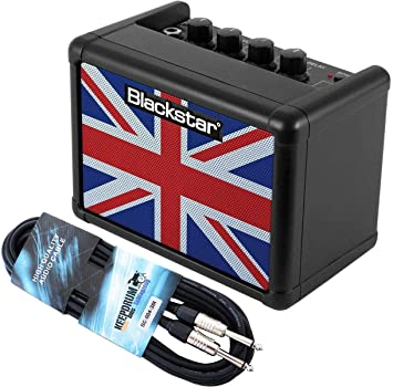 Black Star Fly 3 unión jack amplificadores de guitarra negro + Keepdrum Cable Jack 3 m