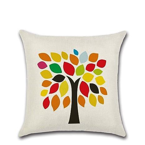 Decorativa almohada multicolor algodón Imprimir Impreso Sofá ...