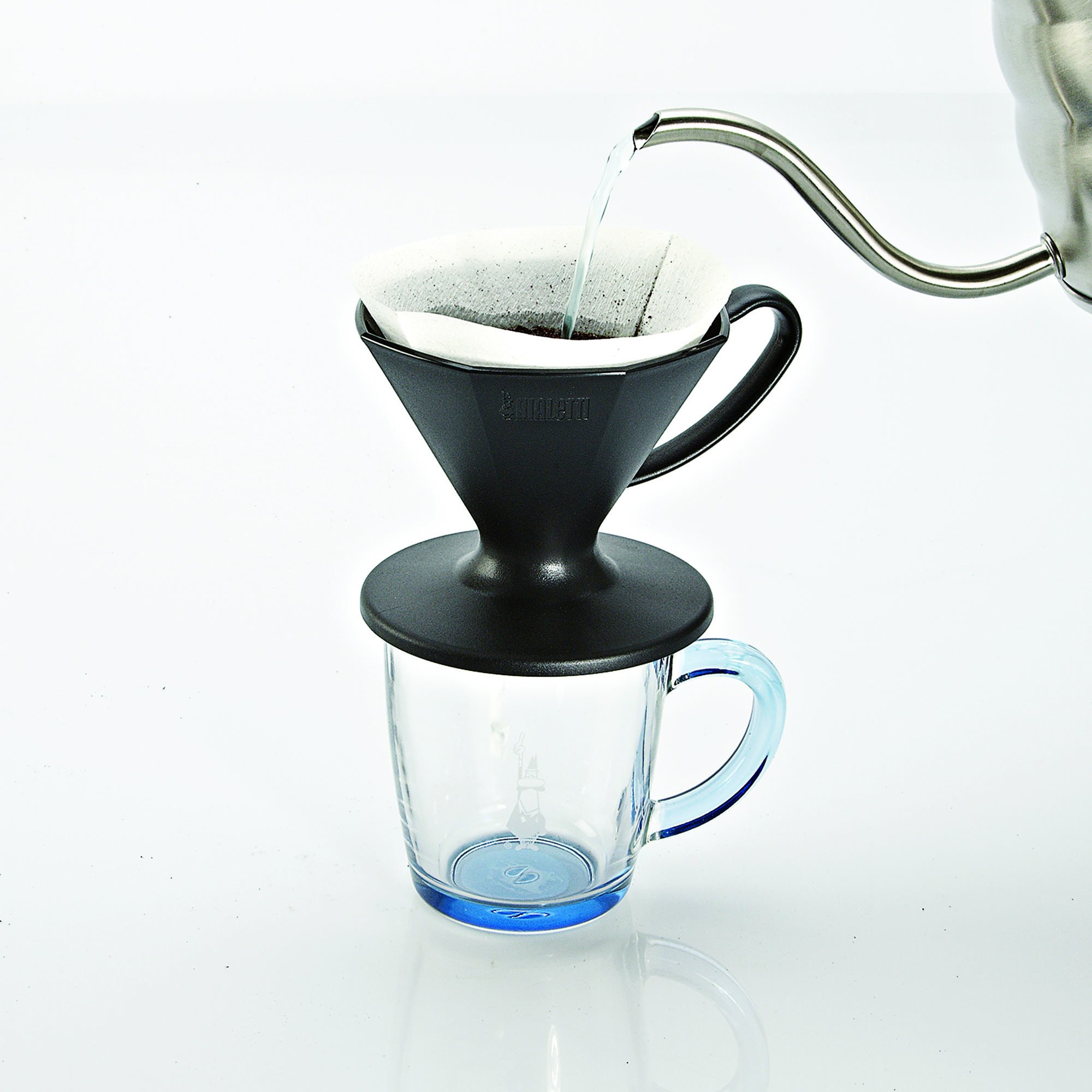 Bialetti 6751 2 Cup Plastic Pourover Coffee Dripper, Black by Bialetti (Image #1)