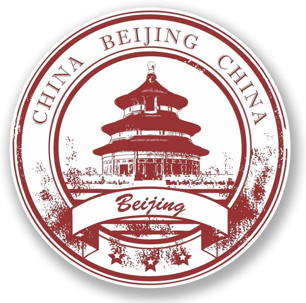 2 x Beijing China Vinyl Sticker Laptop Travel Luggage Car #5945