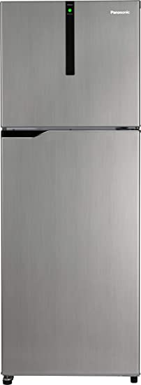 Panasonic 307 L 3 Star Inverter Frost-Free Double-Door Refrigerator (NR-BG311VSS3, Shining Silver) Refrigerators at amazon