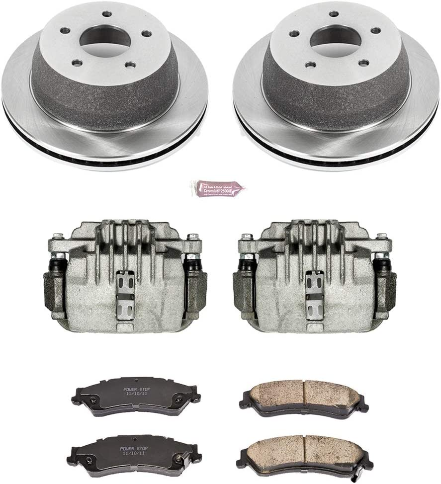 Power Stop KCOE1368 Rear Stock Replacement Brake Kit with Calipers