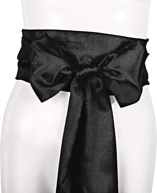 5.5 Inch Wide 3 Pieces Sash Belt Pirate Sash Desert Prince Sash Long Silk Sash for Costume Accessories 140 Inch Long