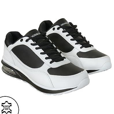 Hoodboyz Jump Herren Low Sneaker Weiß Schwarz: