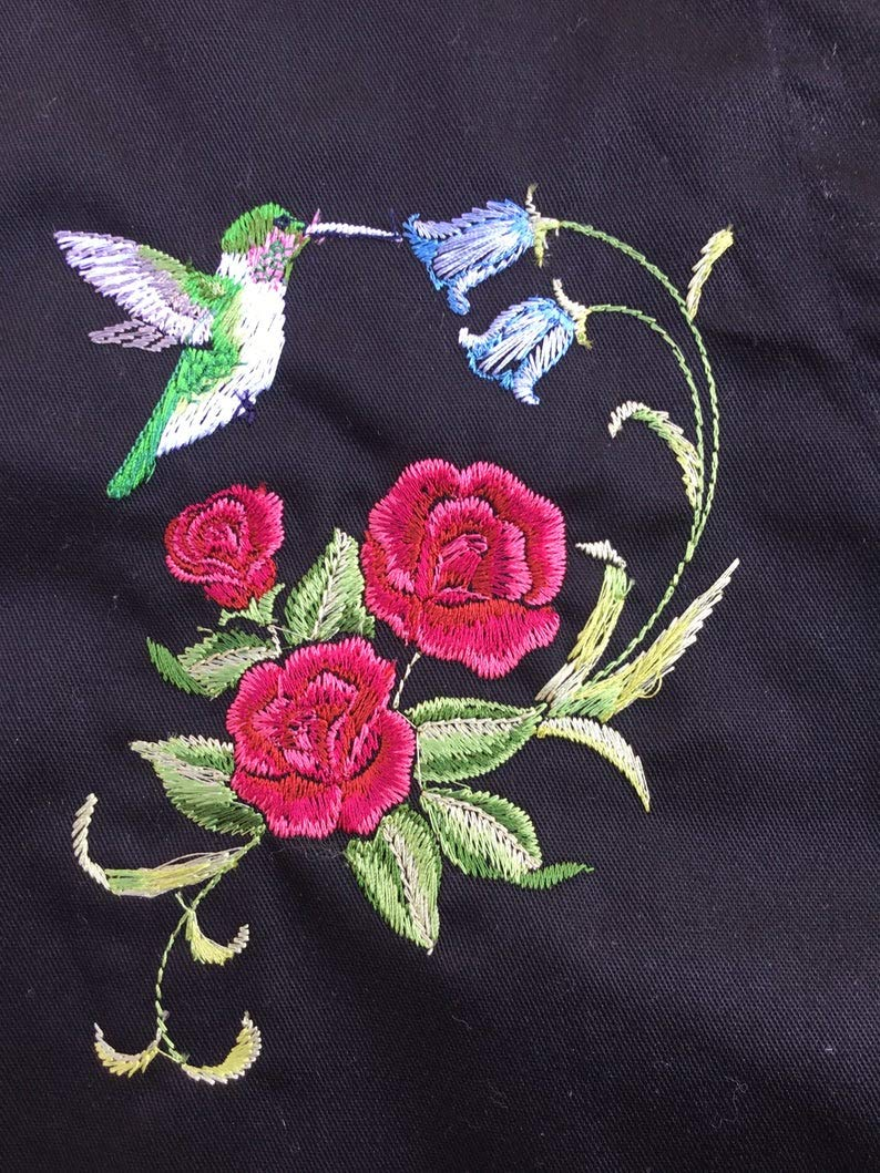 Personalized Embroidered hummingbird-Grilling Gift-Hummingbird-Womens cooking apron-Outdoor cooking-Kitchen apron-Chef aprons-personal