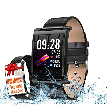 Smart Watch, Fitness Tracker With Blood Pressure & Heart Rate & Sleep Monitor Compatible For IOS & Android,Waterproof Smart Bracelet With Pedometer ...