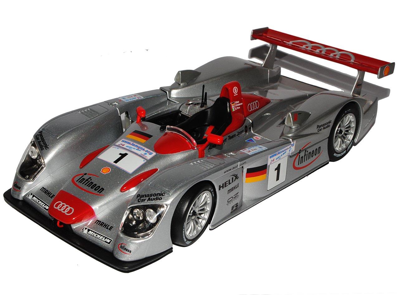 Maisto Audi R8 LE Mans 24H Sieger 2001 Biela Kristensen Pirro 1/18 Modell Auto mit individiuellem Wunschkennzeichen