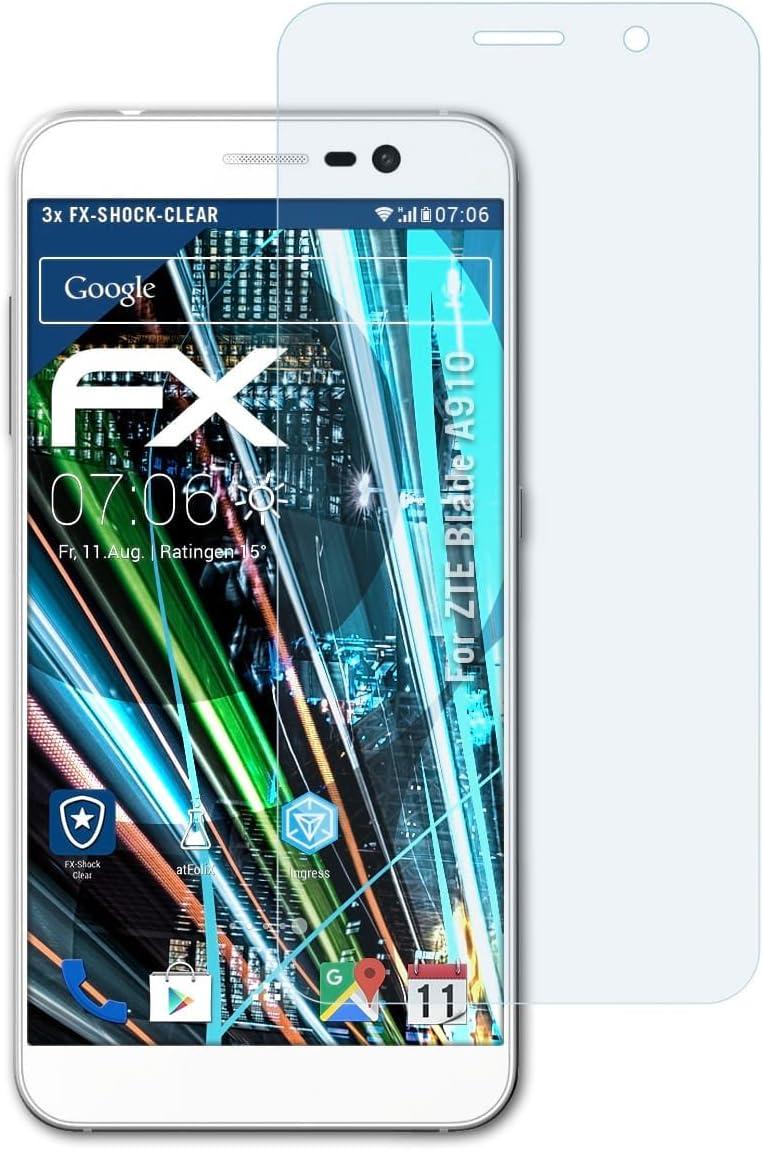 atFoliX Antichoque Película Protectora Compatible con ZTE Blade ...