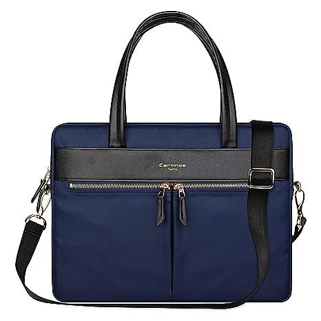 5ca64f45acee Cartinoe Laptop Tote Bag, Women Waterproof Laptop Bag Briefcase RFID  Blocking Ultrathin Nylon Business Ladies Work Handbag Shoulder Messenger  Carrying ...