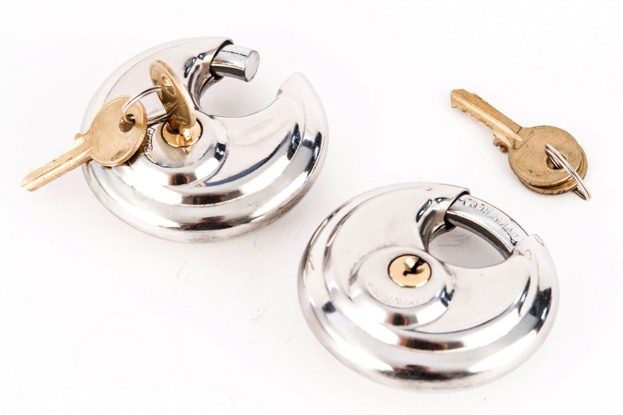 Red Hound Auto 6 Armor Disc Padlock Trailer Brass Cylinder Storage Locks Stainless Keyed Same by Red Hound Auto (Image #4)