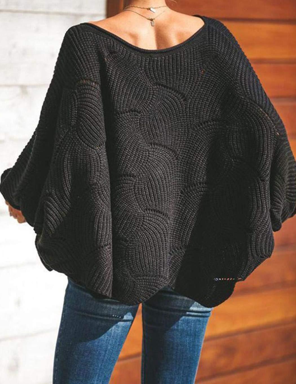 Zuionk Frauen Lose Pullover Pullover Fledermaus Flügel Ärmel Jumper Pullover