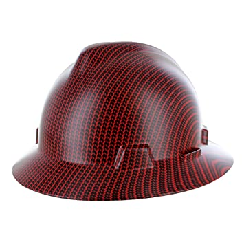 Custom Hydrographic Red Carbon Fiber Hard Hat Ii Amazon Com